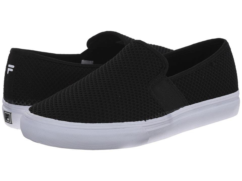 Fila - Memory Fanelli Mesh (Black/Black/White) Women's Shoes