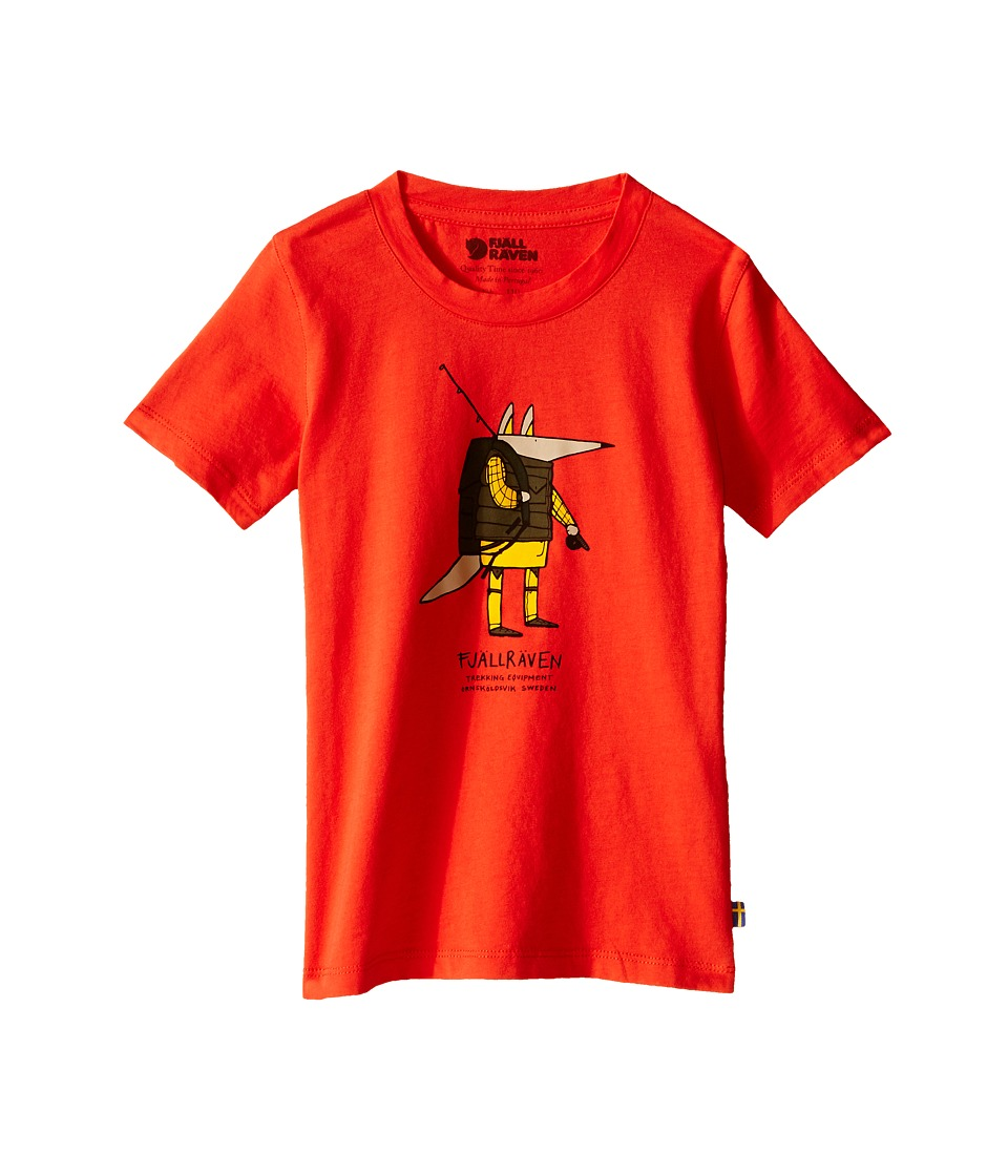Fjallraven Kids - Kids Trekking Fox T-Shirt (Flame Orange) Kid's Short Sleeve Pullover