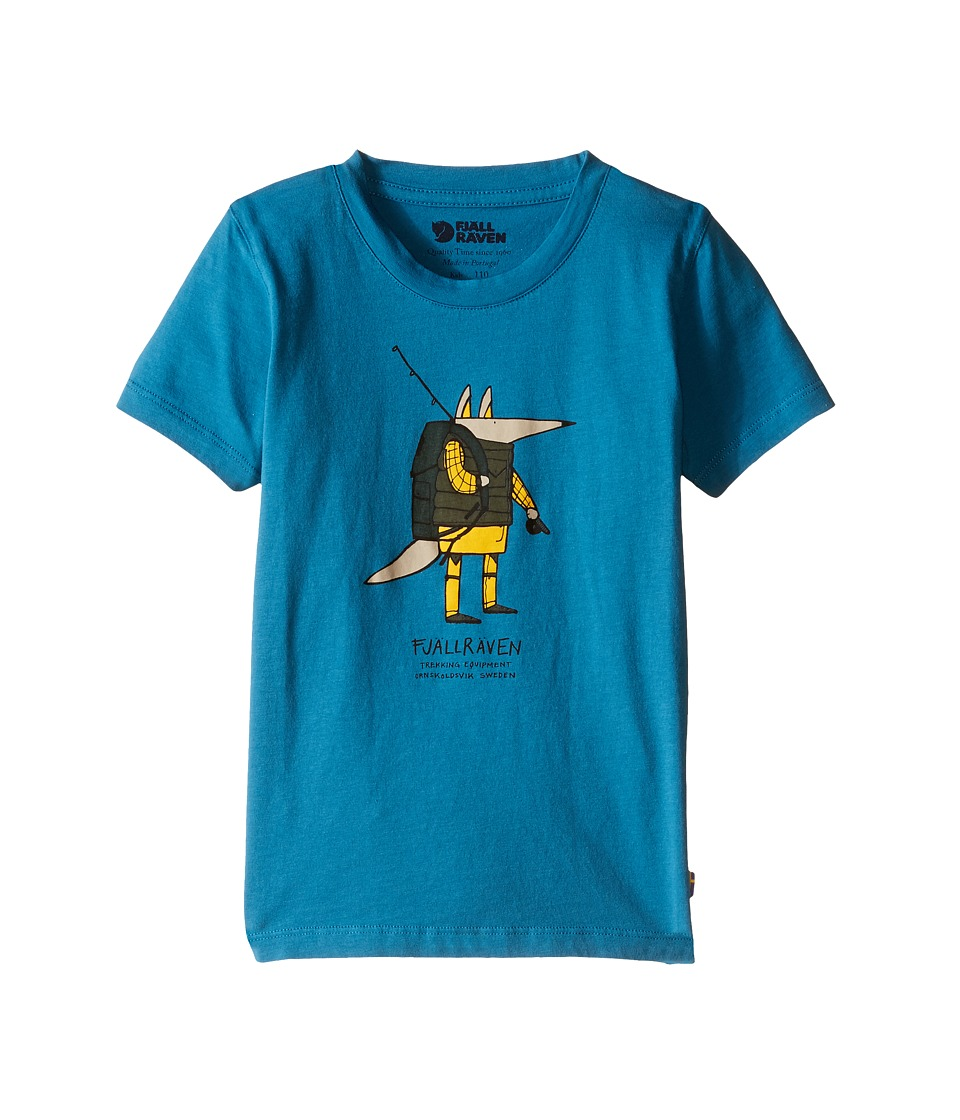 Fjallraven Kids - Kids Trekking Fox T-Shirt (Lake Blue) Kid's Short Sleeve Pullover