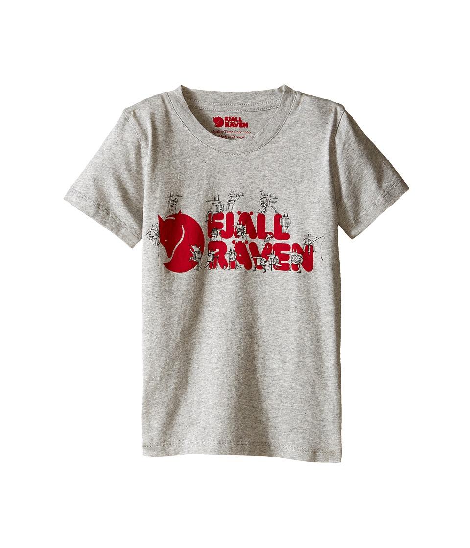 Fjallraven Kids - Kids Trek Logo T-Shirt (Grey) Kid's Short Sleeve Pullover