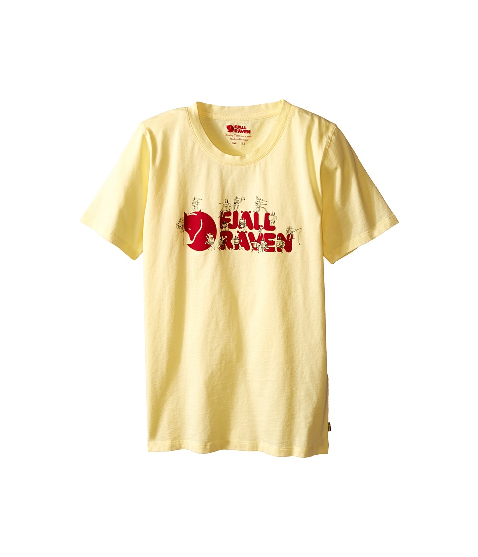 Fjallraven Kids - Kids Trek Logo T-Shirt (Pale Yellow) Kid's Short Sleeve Pullover