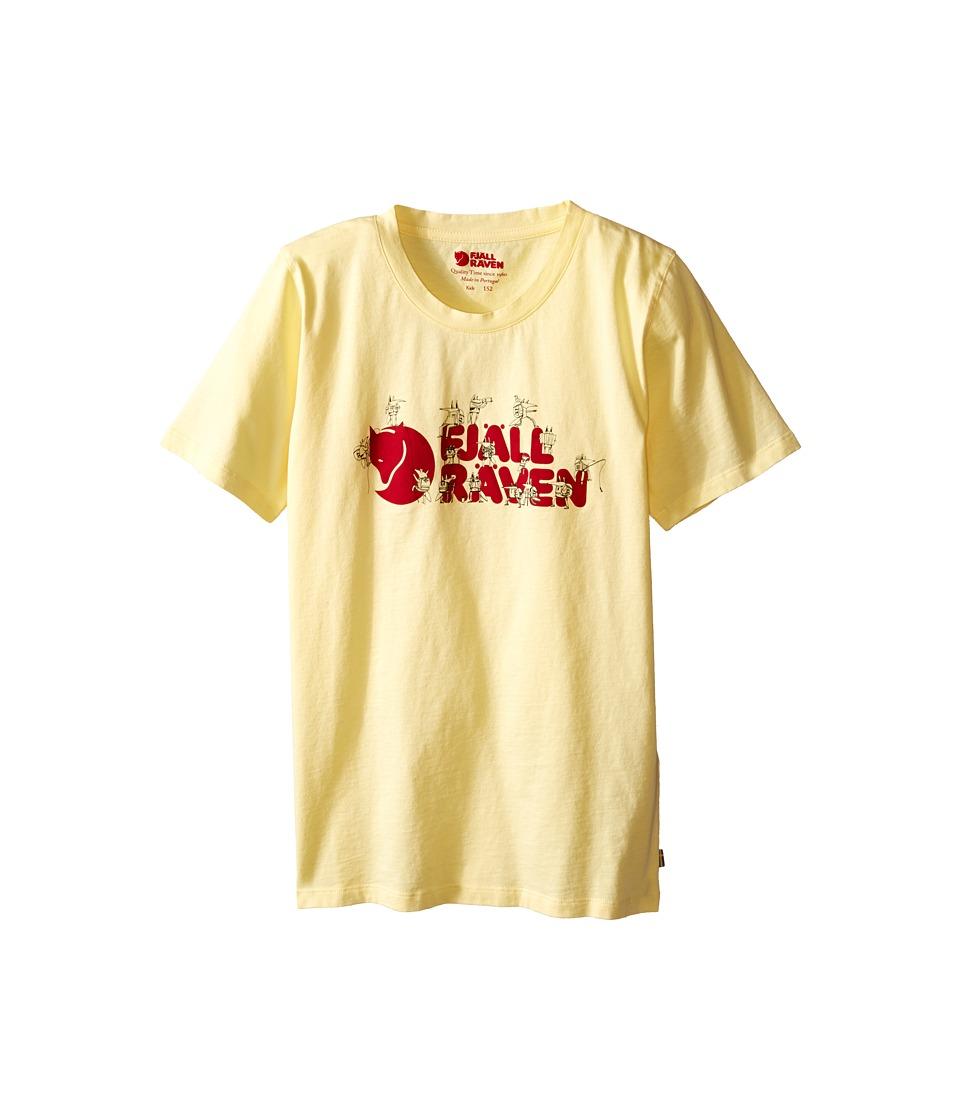 Fjallraven Kids - Kids Trek Logo T-Shirt (Pale Yellow) Kid's Short Sleeve Pullover