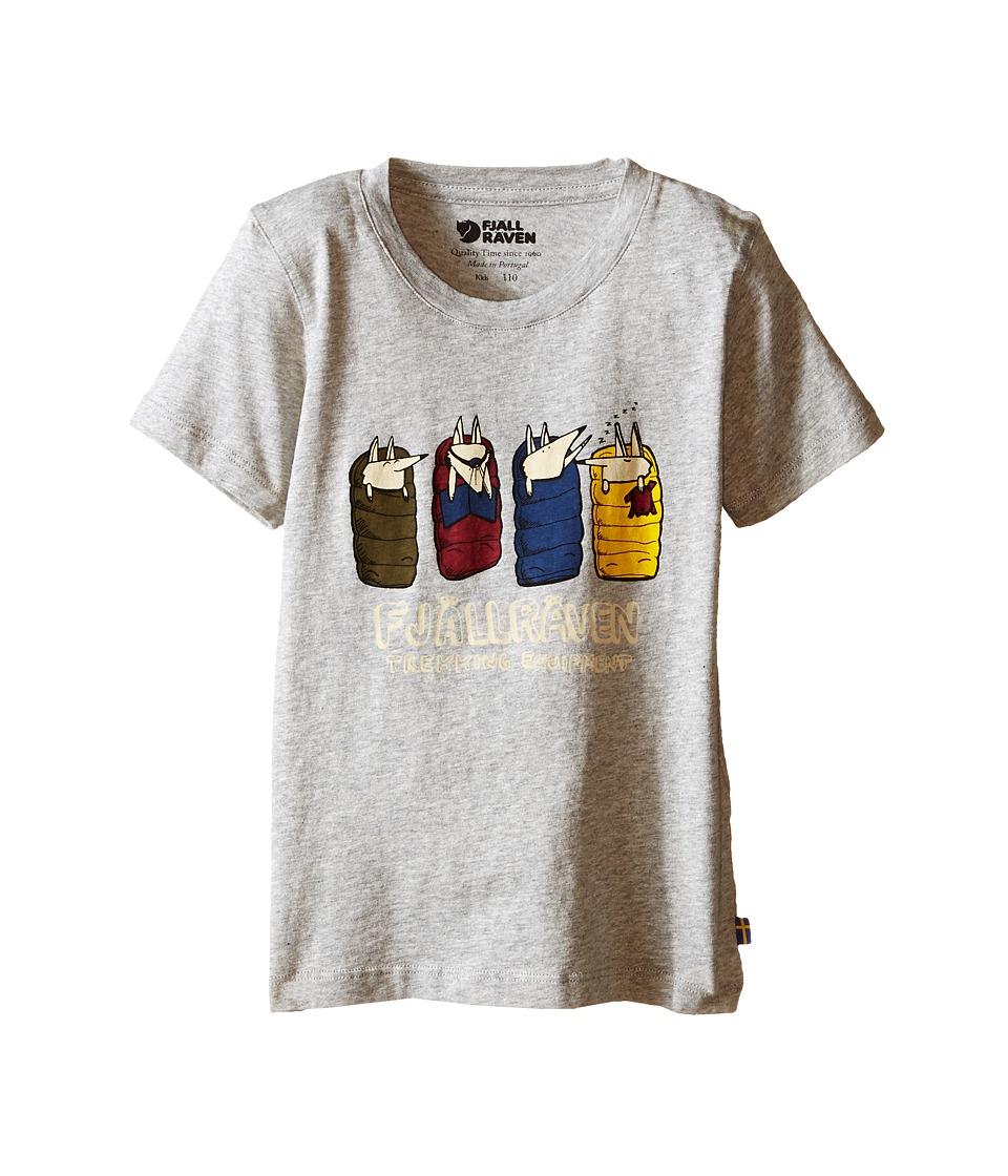 Fjallraven Kids - Kids Sleeping Foxes T-Shirt (Grey) Kid's T Shirt