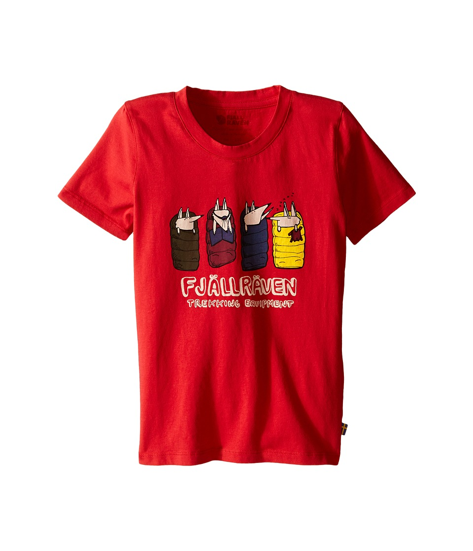 Fjallraven Kids - Kids Sleeping Foxes T-Shirt (Red) Kid's T Shirt