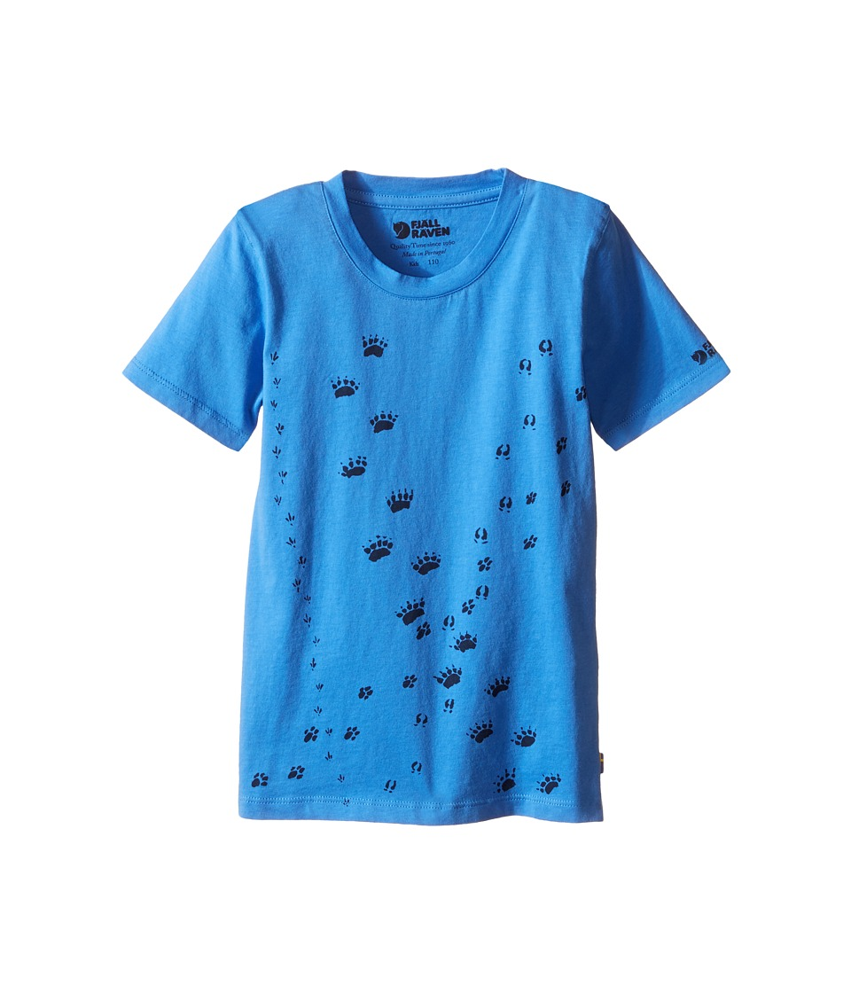 Fjallraven Kids - Kids Animal Tracks T-Shirt (Uncle Blue/Navy) Kid's Short Sleeve Pullover