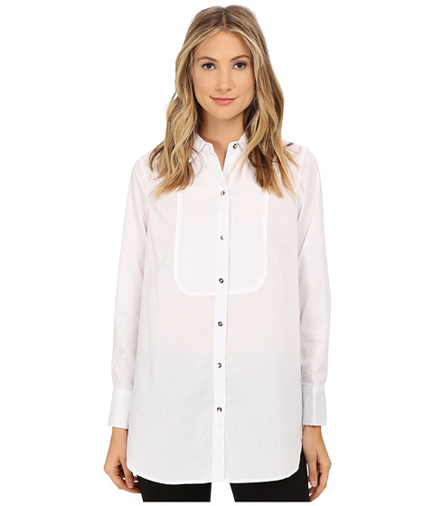 rsvp - Blanche Top (White) Women's Long Sleeve Button Up