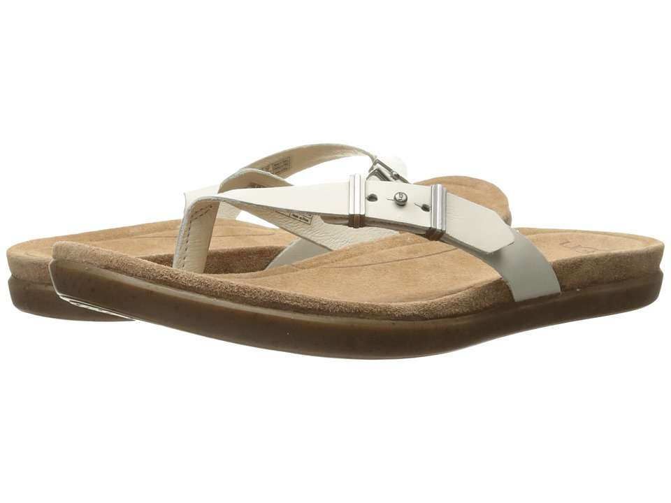 UGG - Sela (White Wall Leather) Women's Slide Shoes