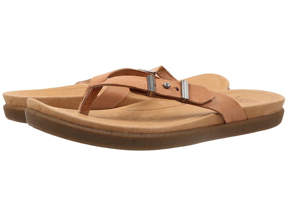 UGG - Sela (Tawny Leather) Women's Slide Shoes