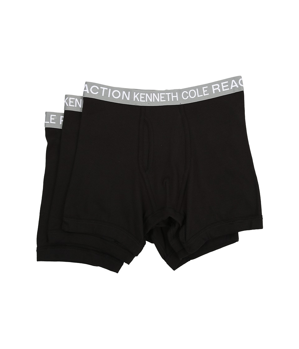Kenneth Cole Reaction - 3-Pack Boxer Brief (Black/Black/Black) Men's Underwear