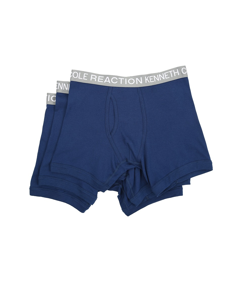 Kenneth Cole Reaction - 3-Pack Boxer Brief (Navy/Navy/Navy) Men