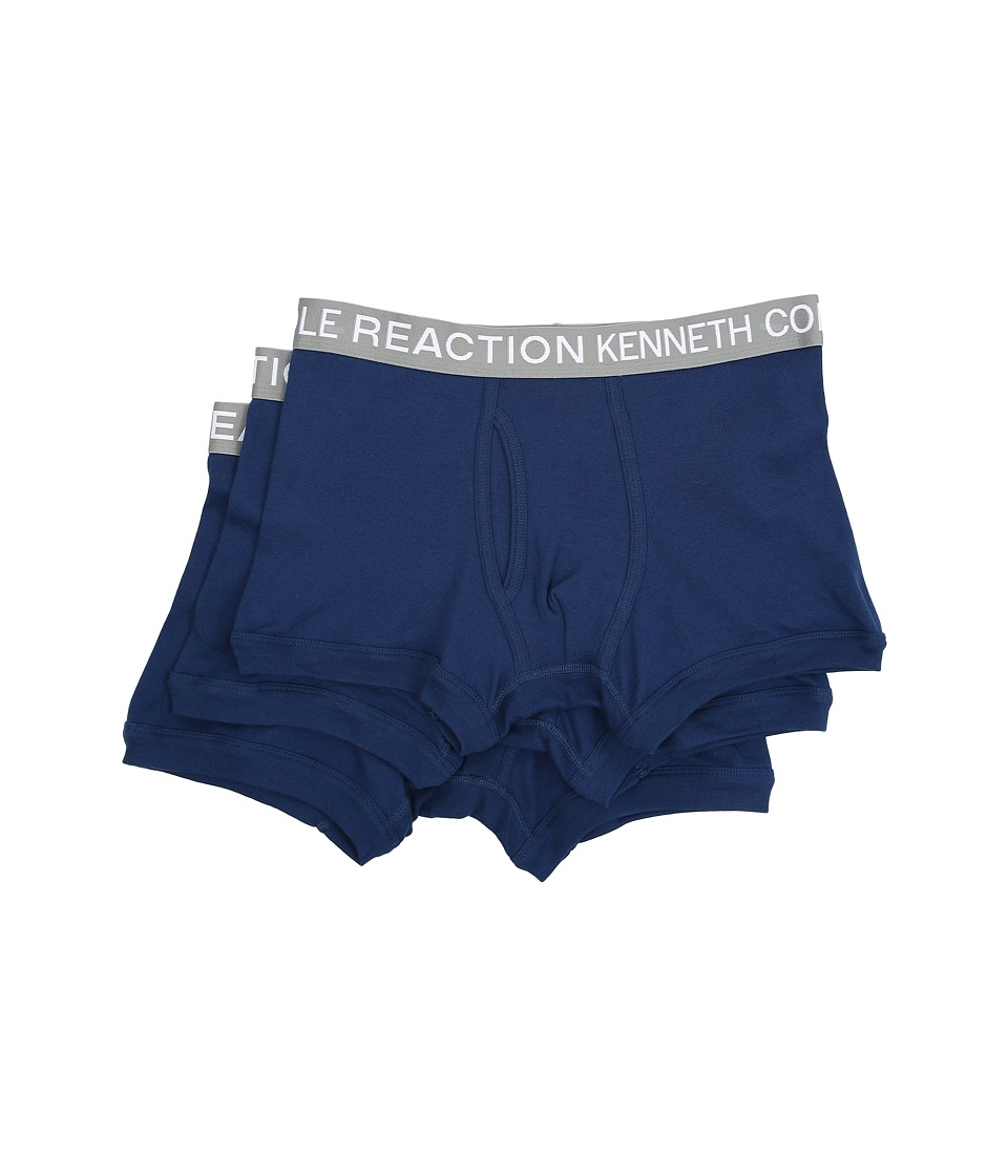 Kenneth Cole Reaction - 3-Pack Trunk (Navy/Navy/Navy) Men's Underwear