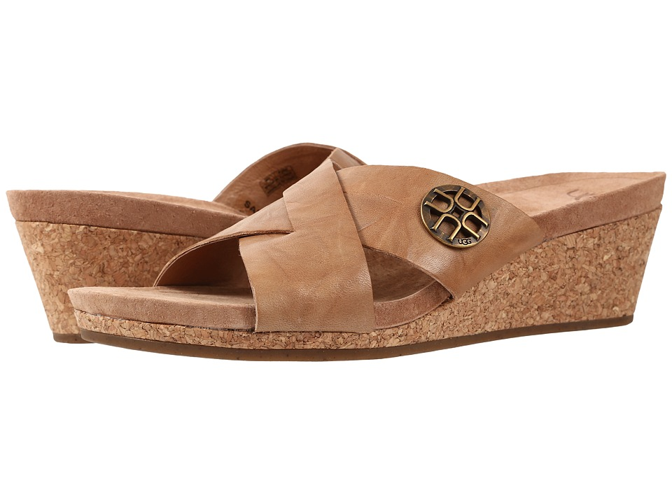 UGG - Lyra (Tawny Leather) Women's Wedge Shoes
