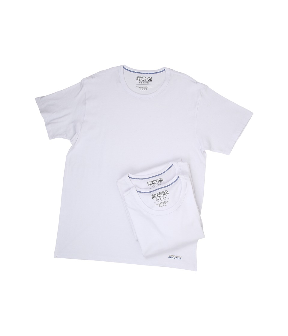 Kenneth Cole Reaction - 3-Pack Crew Neck Tee (White) Men's T Shirt