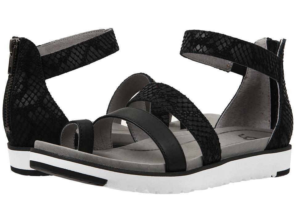 UGG - Zina (Black Leather) Women's Sandals