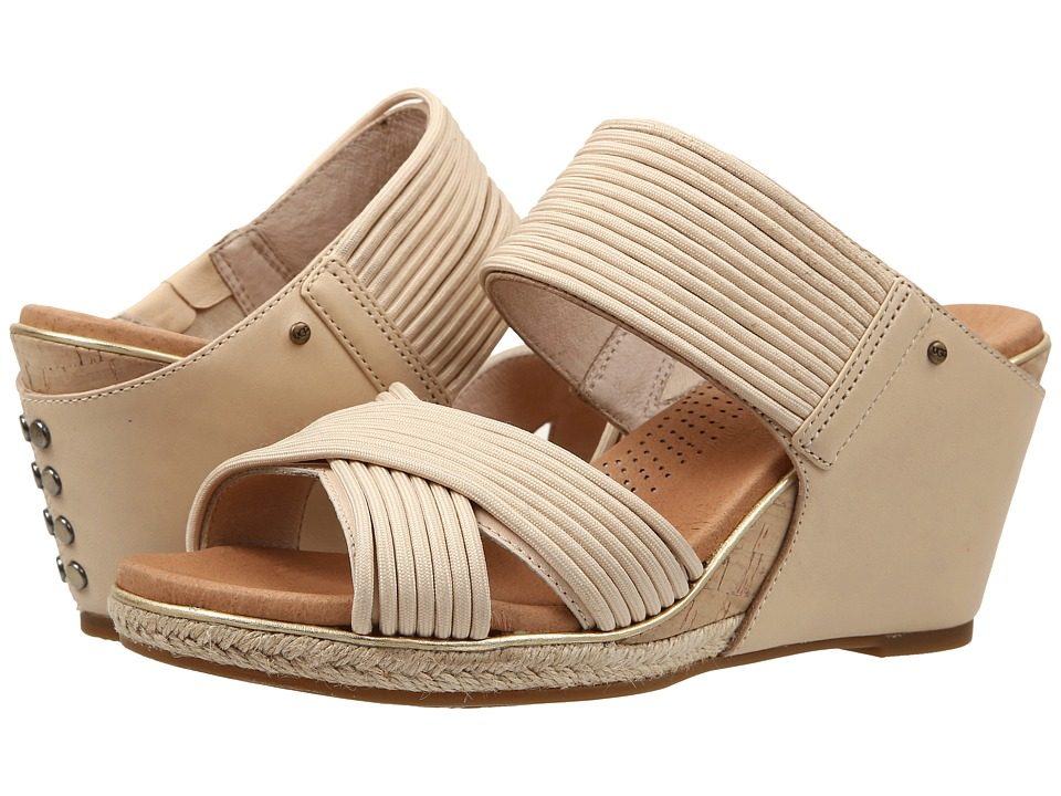 UGG - Hilarie (Buff Leather) Women's Wedge Shoes
