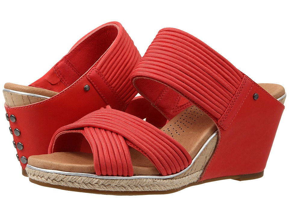 UGG - Hilarie (Cayenne Leather) Women's Wedge Shoes