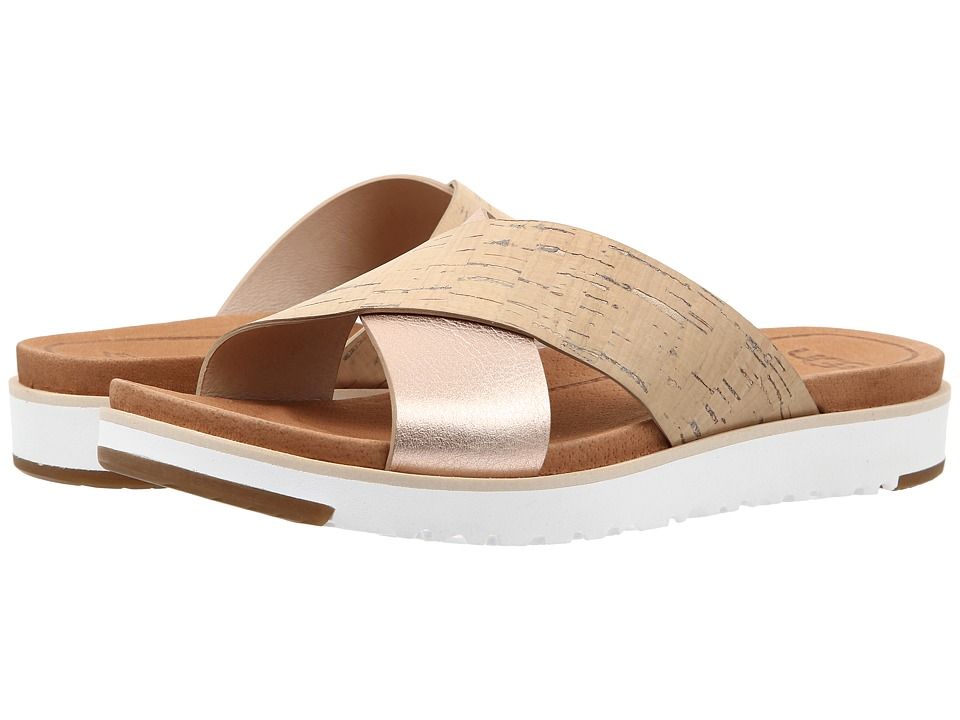 UGG - Kari (Cork/Rosegold Leather) Women's Dress Sandals