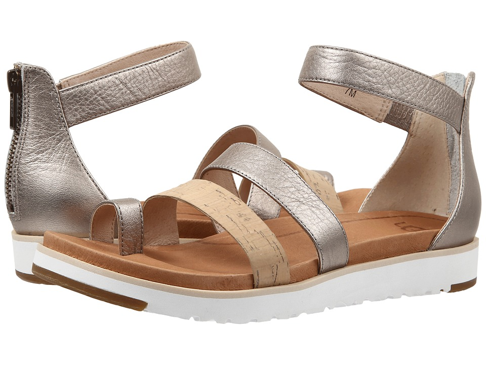 UGG - Zina (Grey Gold Leather) Women's Sandals