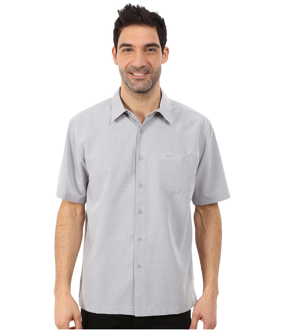 Quiksilver Waterman - Centinela 4 Traditional Polynosic Woven Top (Zinc) Men's Clothing