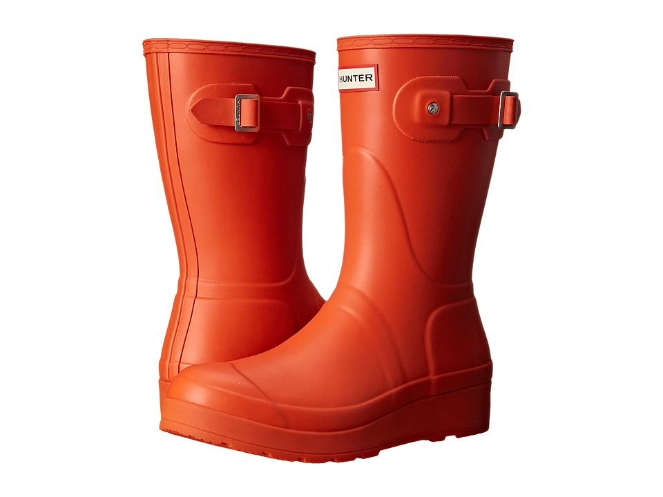 Hunter - Original Short Wedge Sole (Tent Red) Women's Rain Boots