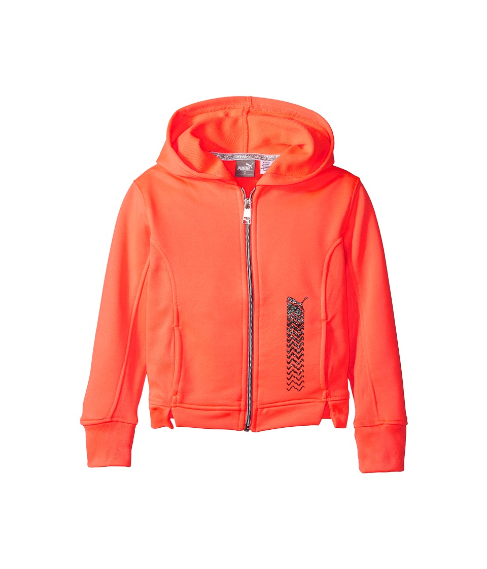 Puma Kids - Athletic Fleece Hoodie (Little Kids) (Fiery Coral) Girl's Sweatshirt