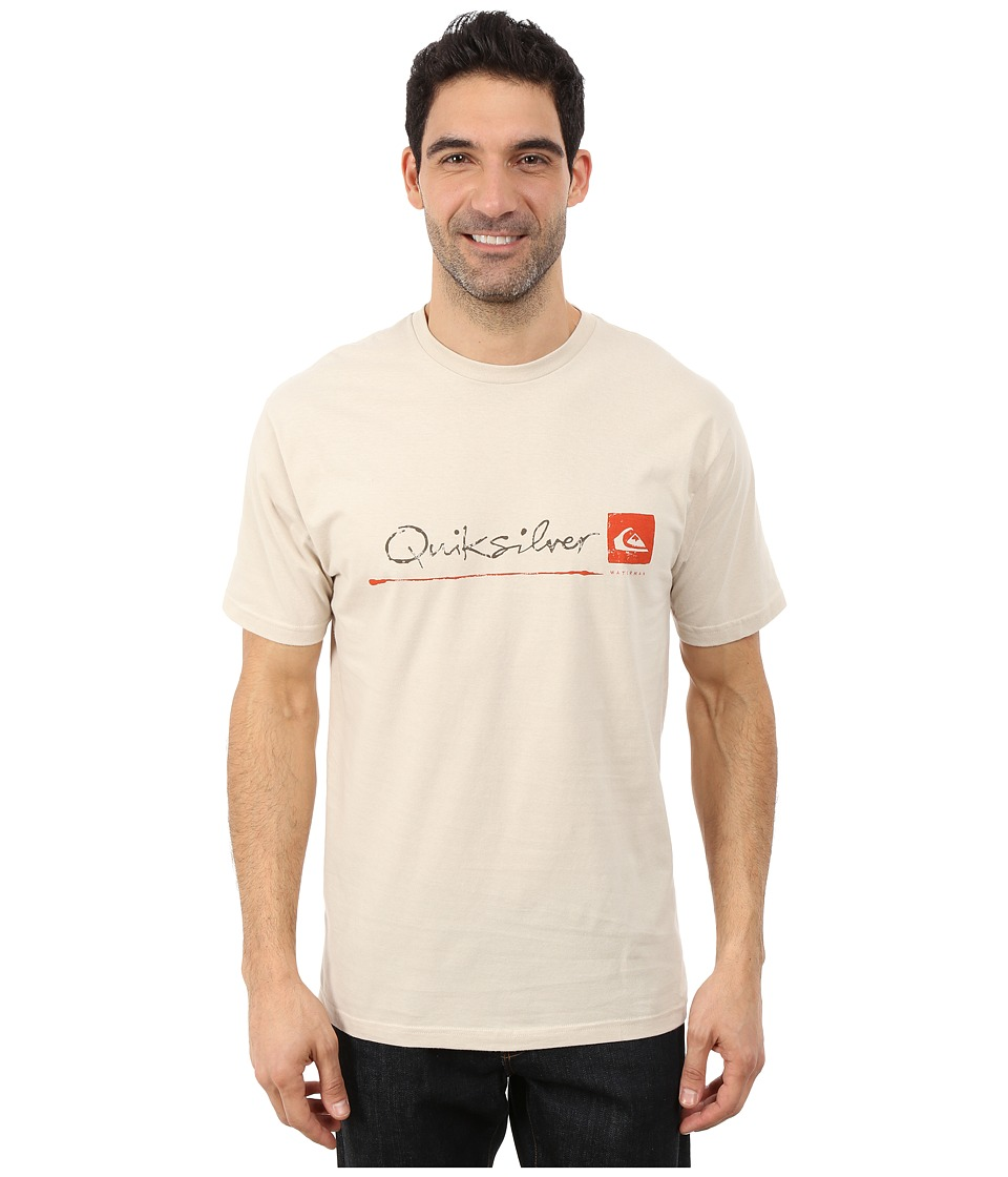 Quiksilver Waterman - Standard QMT0 Premium Cotton Screen Tee (Oatmeal) Men's T Shirt