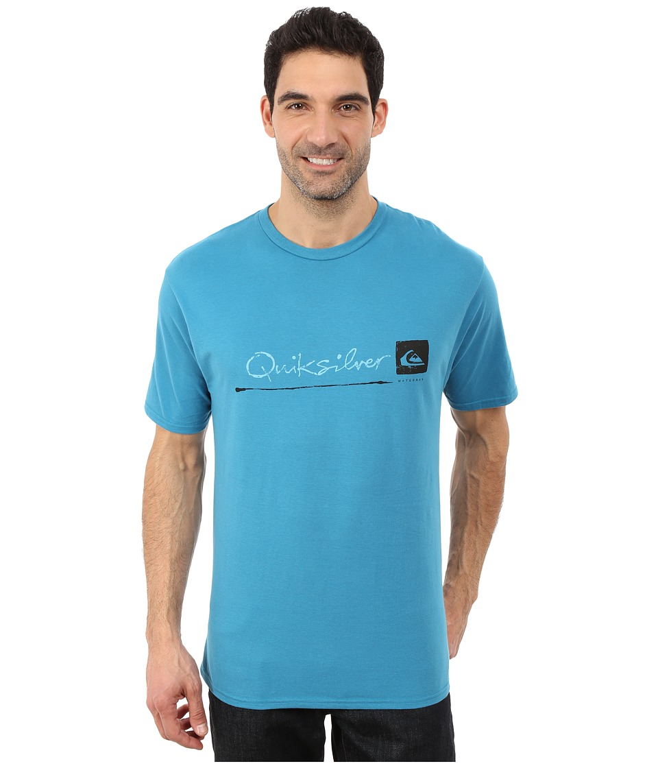 Quiksilver Waterman - Standard QMT0 Premium Cotton Screen Tee (Celestial) Men's T Shirt
