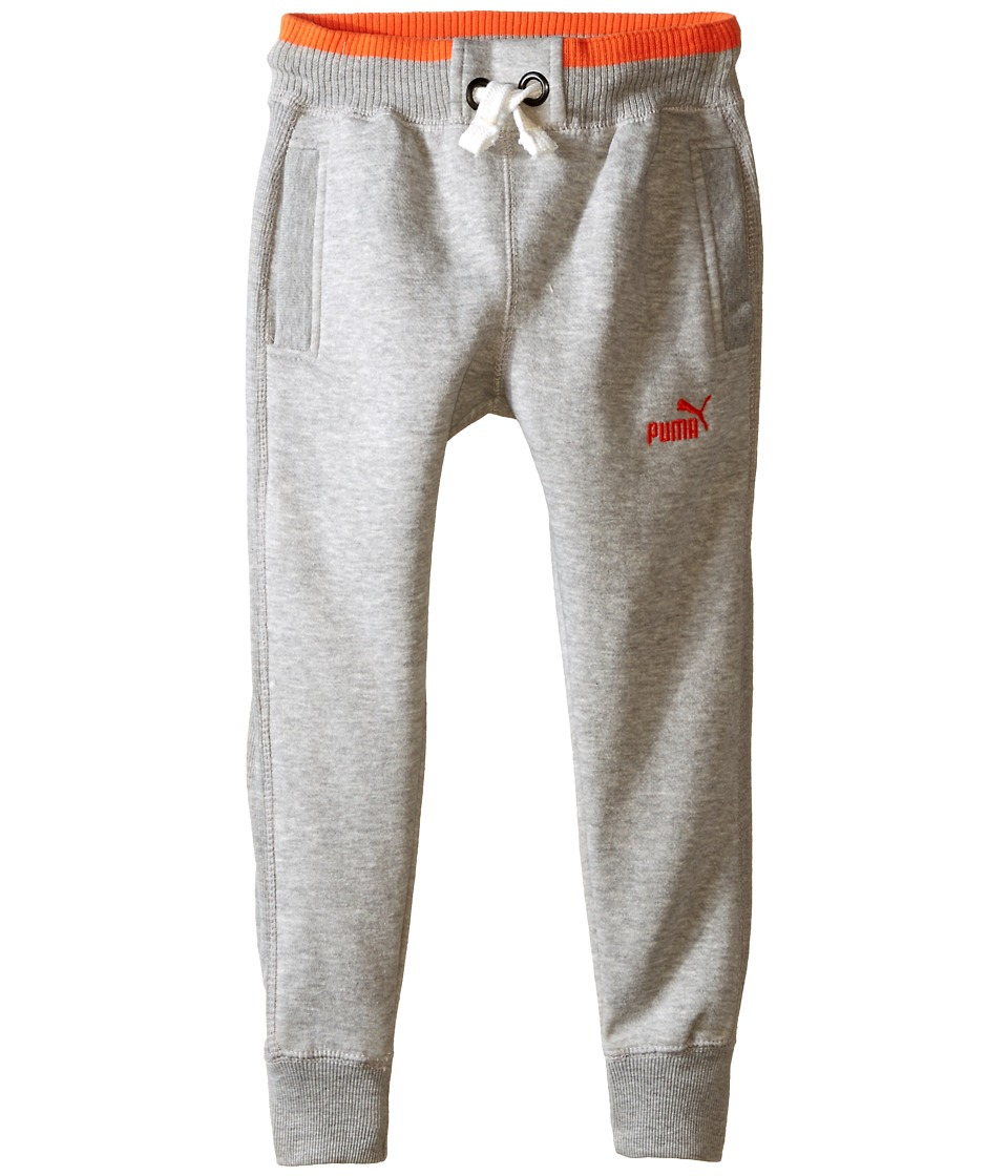 Puma Kids - Fleece Pants (Little Kids) (Light Heather Grey) Boy's Casual Pants