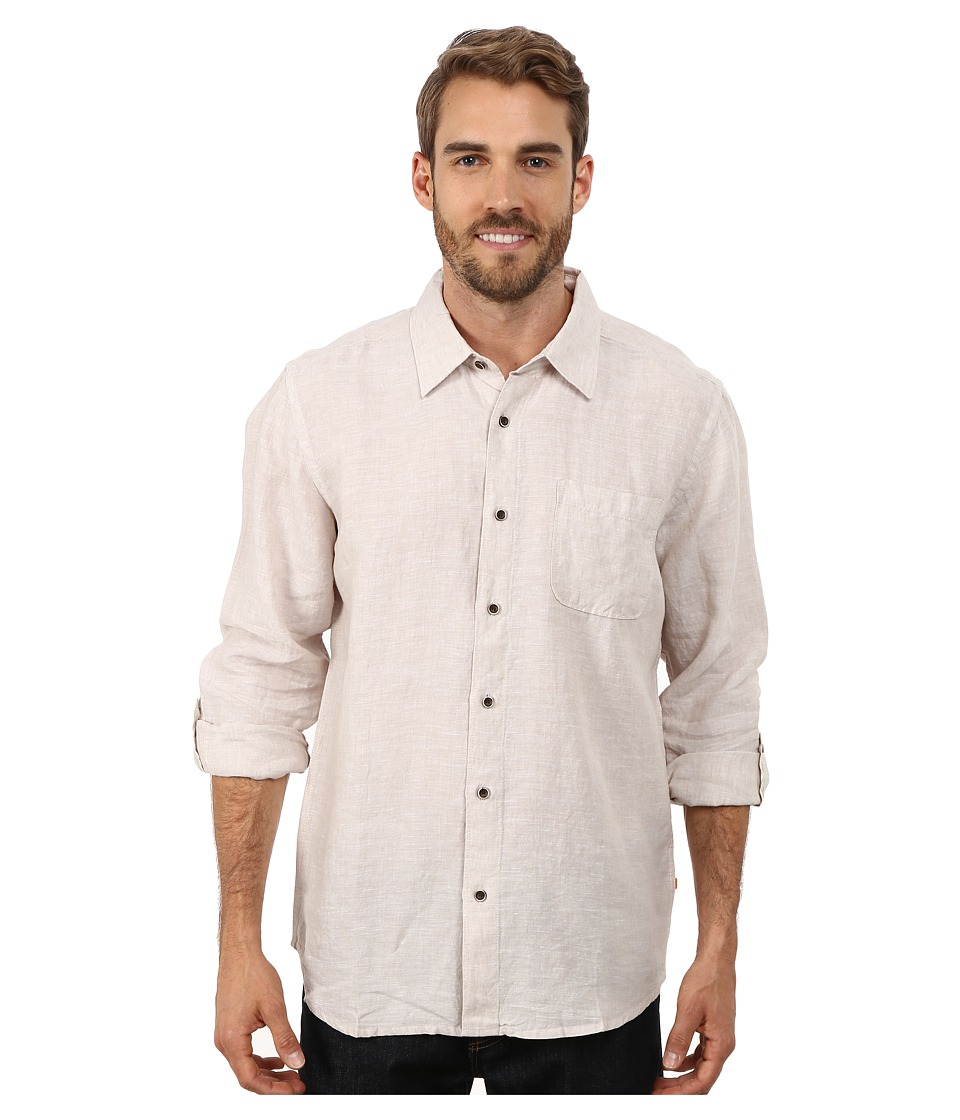 Quiksilver Waterman - Burgess Isle Traditional Woven Top (Oatmeal) Men's Clothing