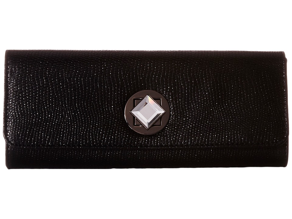 Jessica McClintock Carmela Clutch (Black 1) Clutch Handbags