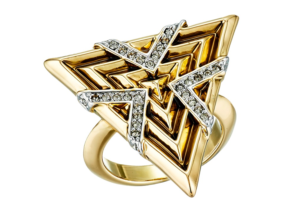 House of Harlow 1960 - Vintage Muse Cocktail Ring (Gold) Ring