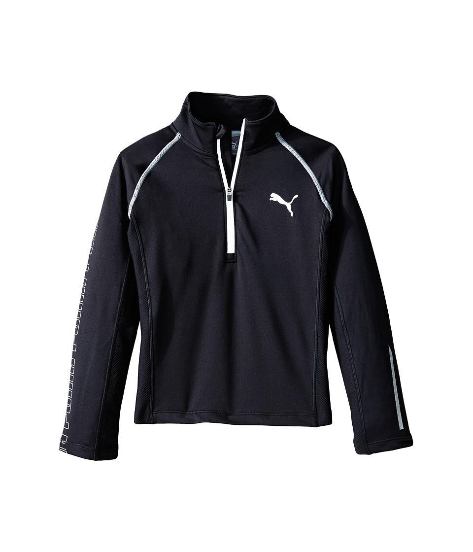 Puma Kids - Long Sleeve 1/4 Zip Top (Little Kids) (PUMA Black) Boy's Sweatshirt