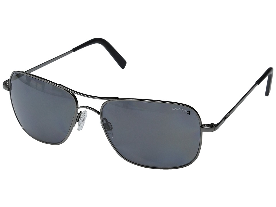 Randolph - Archer 59mm Polarized (Dark Ruthenium Polished/Gray Polarized) Fashion Sunglasses