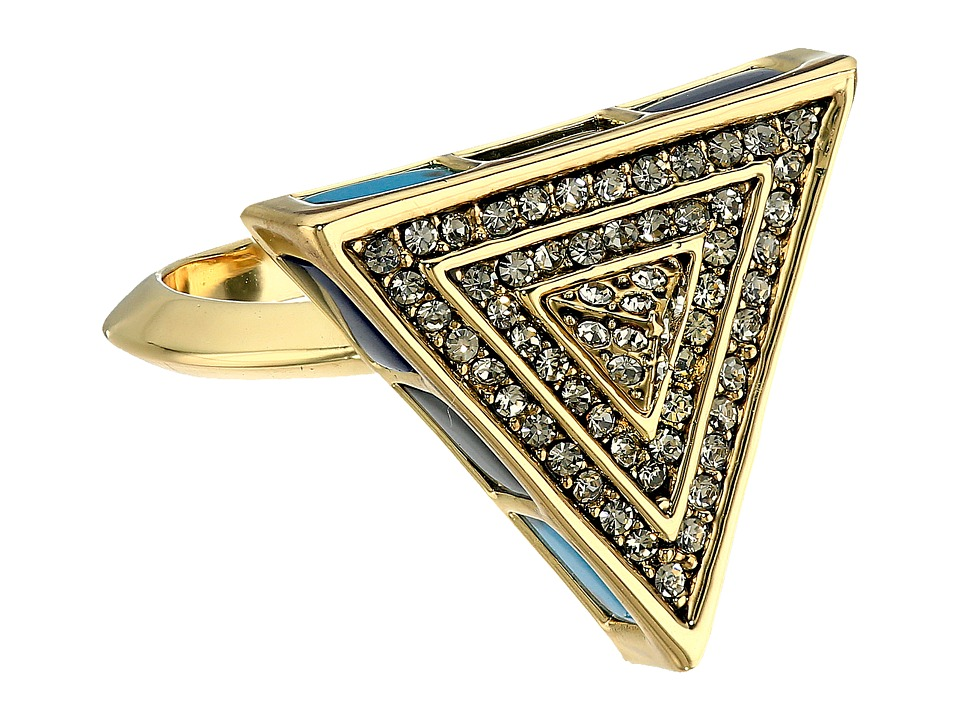 House of Harlow 1960 - Heirloom Pave Triangle Ring (Gold) Ring