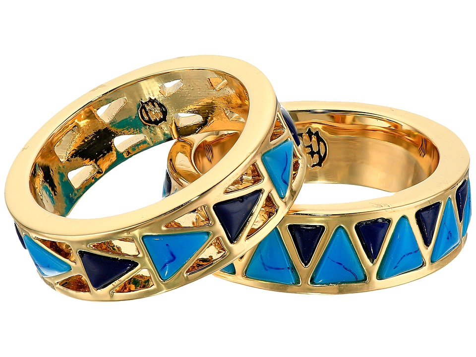 House of Harlow 1960 - Heirloom Ring Set (Blue) Ring