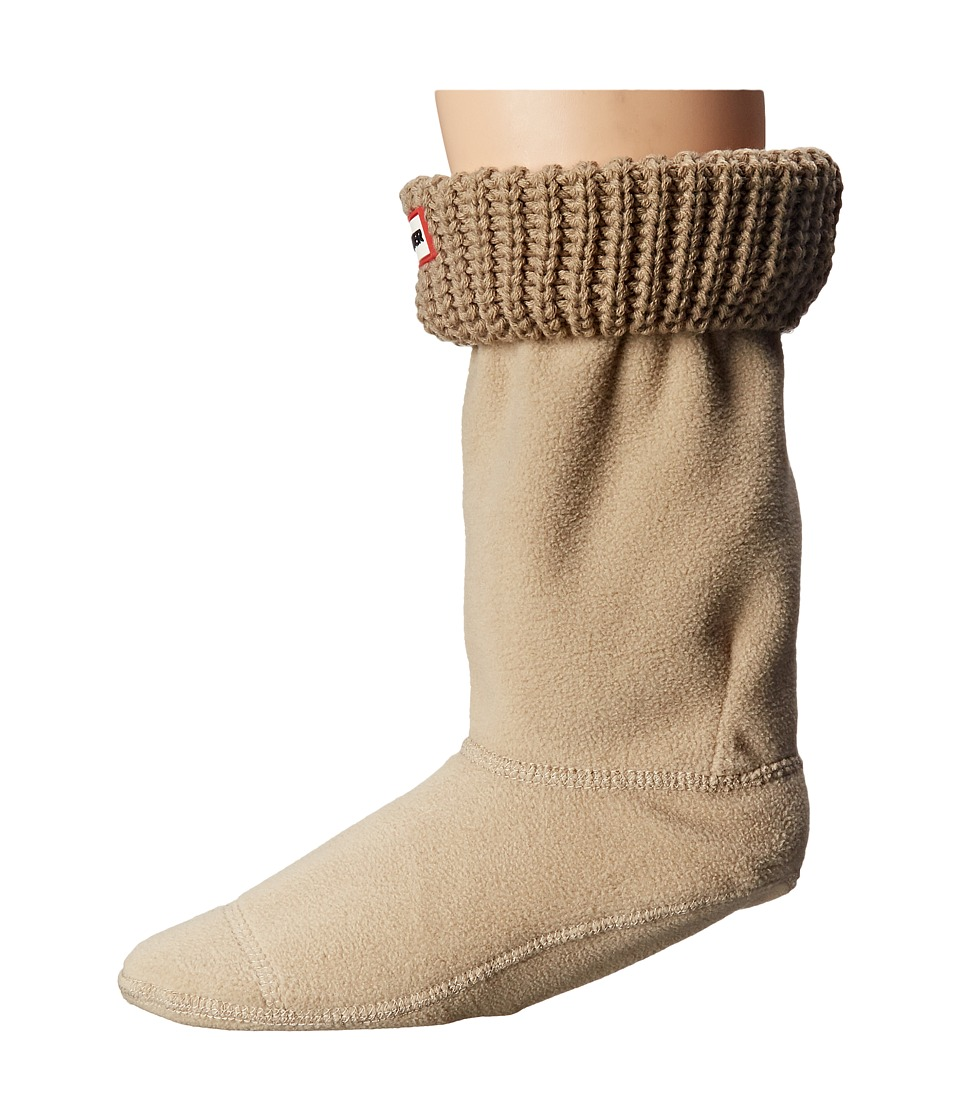 Hunter - Half Cardigan Boot Sock - Short (Light Sand) Women's Crew Cut Socks Shoes