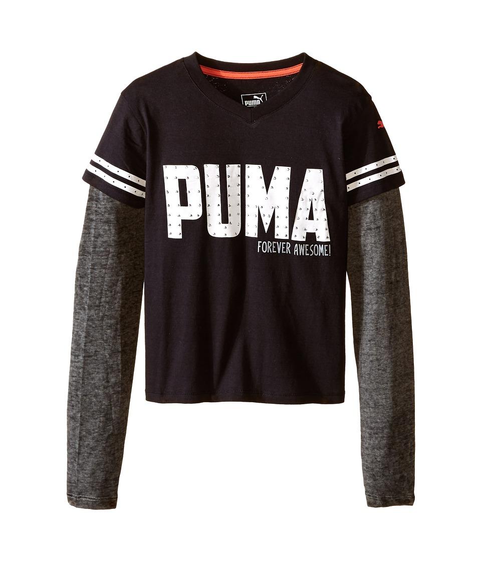 Puma Kids Patterned Twofer (Big Kids) (PUMA Black) Girl