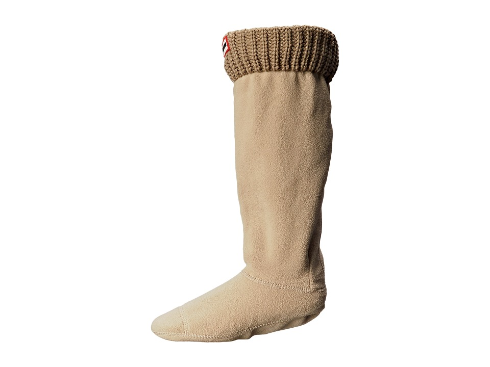 Hunter - Half Cardigan Boot Socks (Light Sand) Women's Crew Cut Socks Shoes