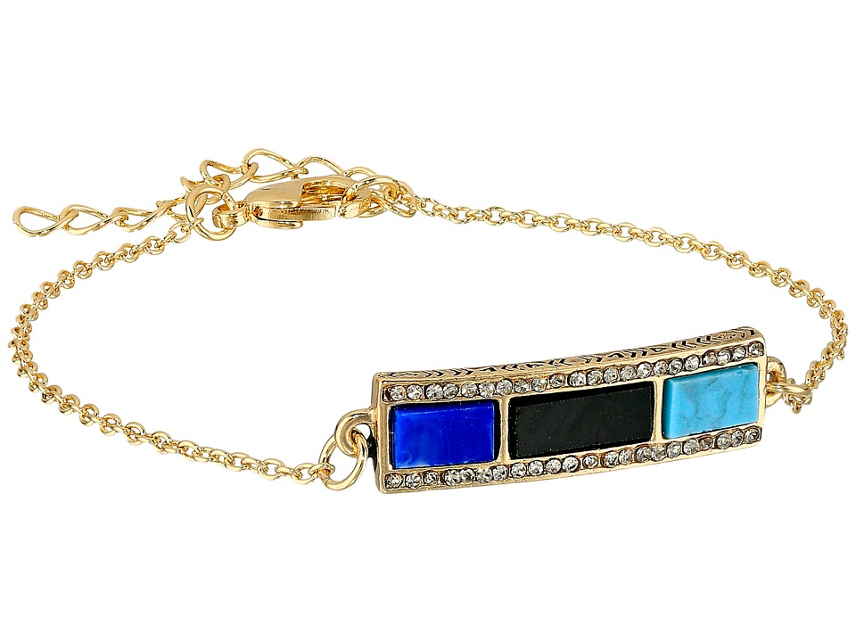 House of Harlow 1960 - Heirloom Chain Bracelet (Turquoise) Bracelet
