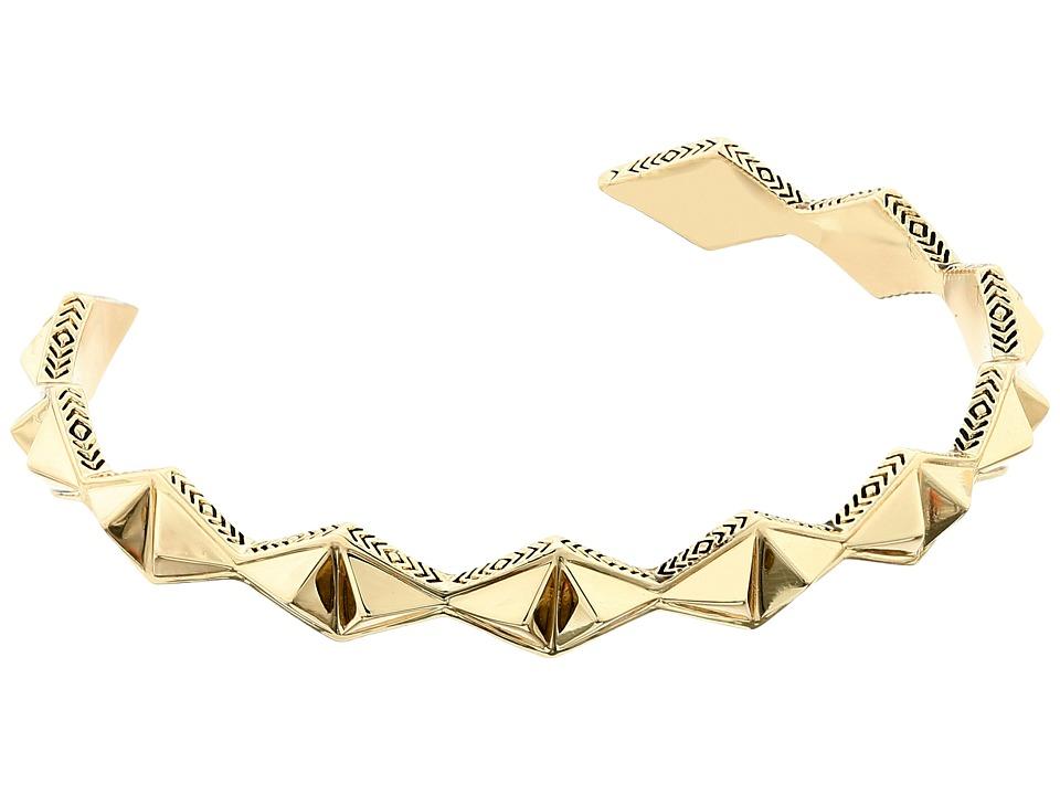House of Harlow 1960 - Sierra Pyramid Cuff Bracelet (Gold) Bracelet