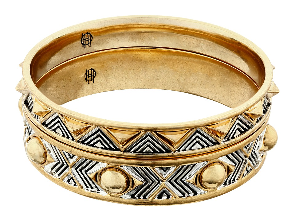 House of Harlow 1960 - Desert Sun Engraved Bracelet Set (Gold/Silver) Bracelet