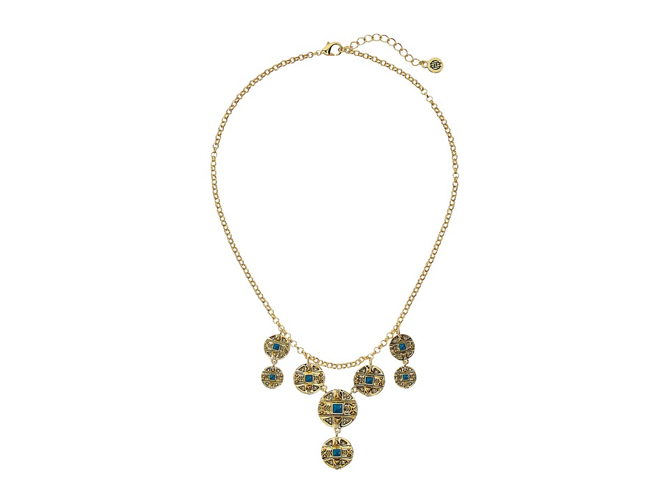 House of Harlow 1960 - Maricopa Coin Collar Necklace (Turquoise) Necklace