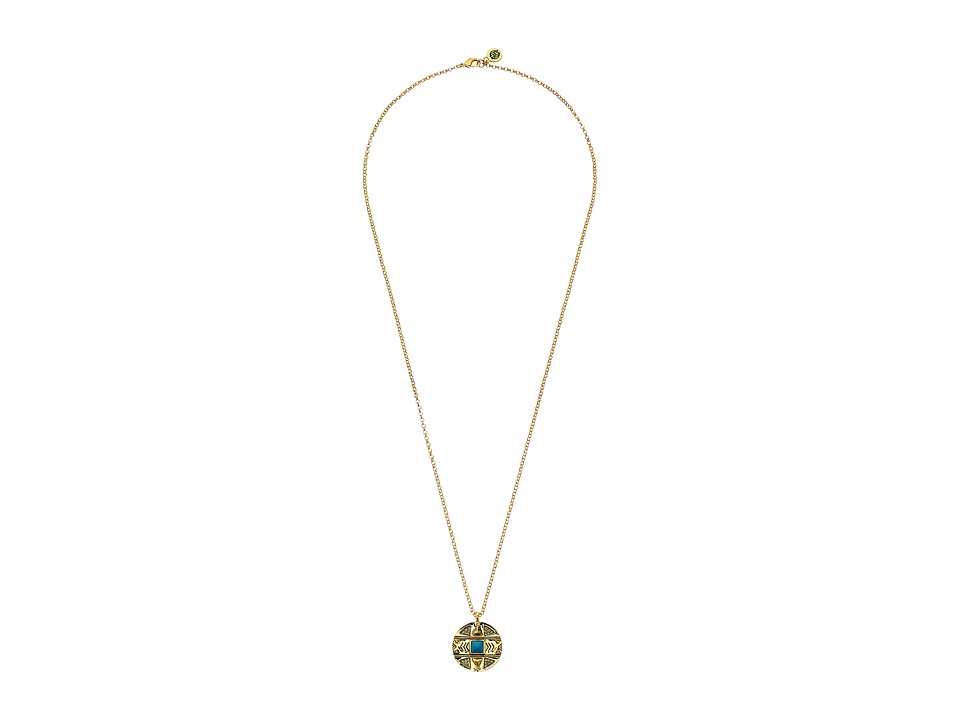 House of Harlow 1960 - Maricopa Coin Pendant Necklace (Turquoise) Necklace