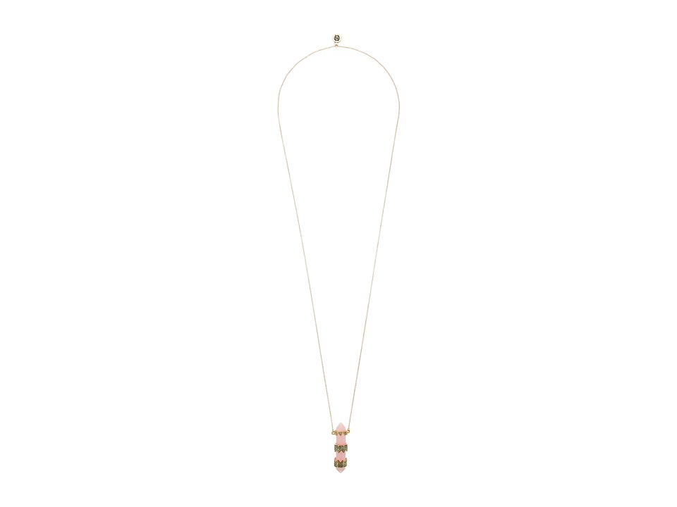 House of Harlow 1960 - Prana Pendant Necklace (Pink) Necklace