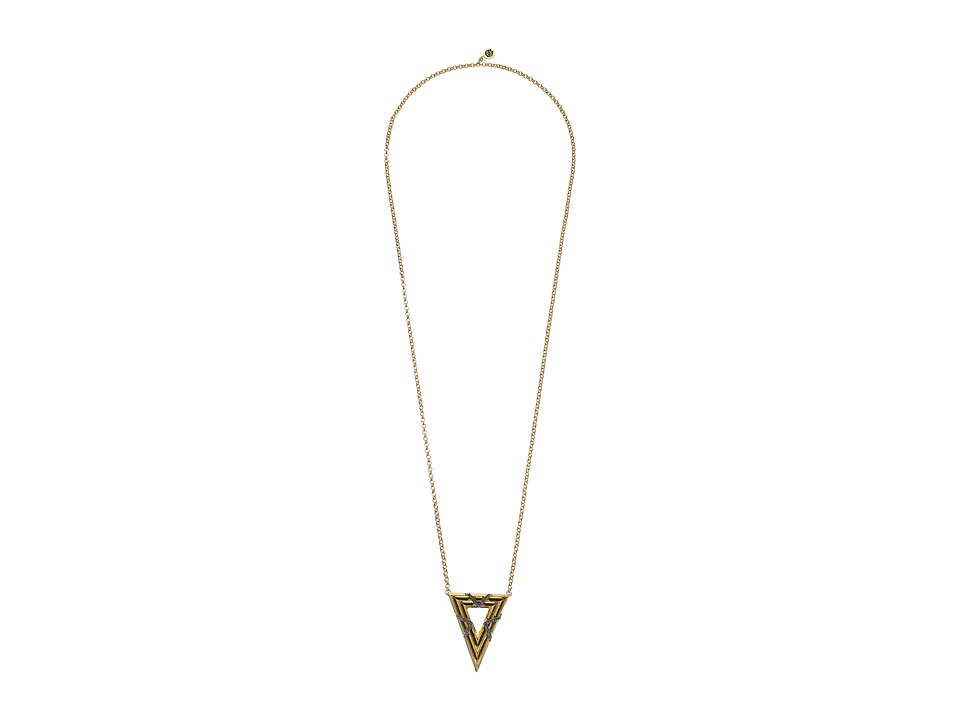 House of Harlow 1960 - Vintage Muse Pendant Necklace (Gold) Necklace
