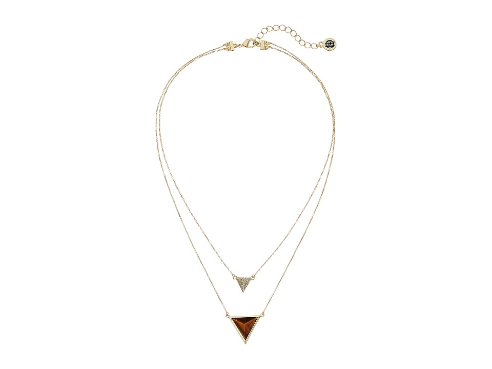 House of Harlow 1960 - Temple Pendant Necklace (Gold 1) Necklace