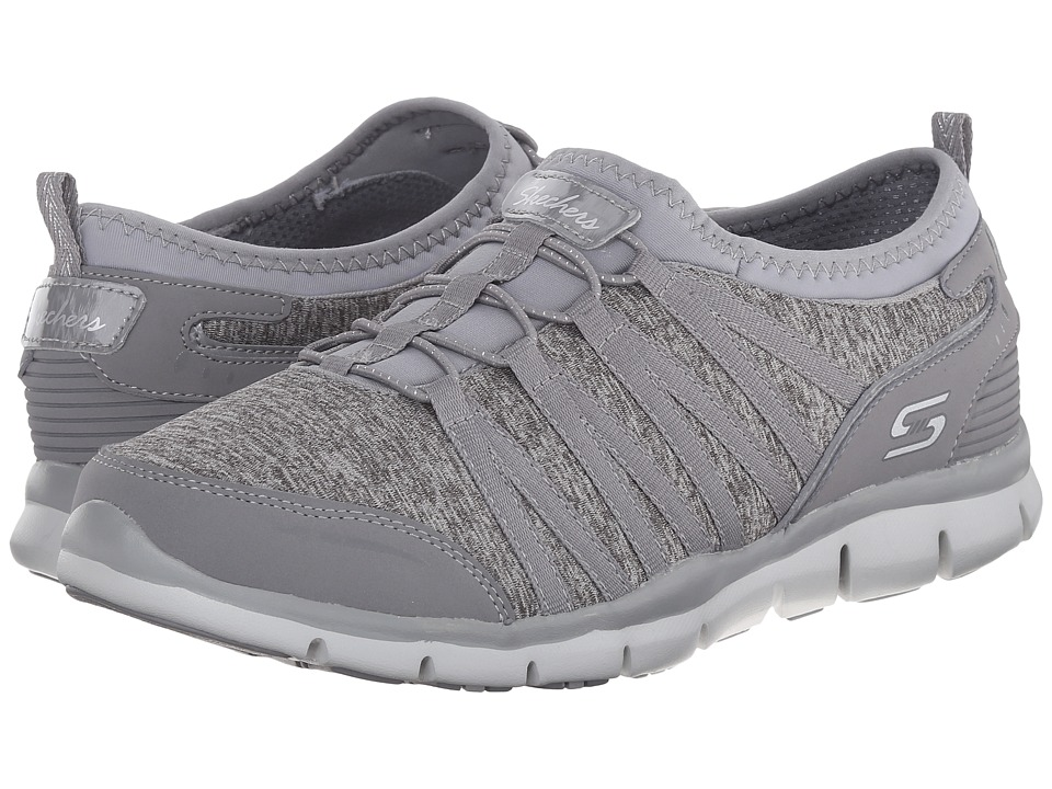 SKECHERS - Gratis - Shake-It-Off (Gray) Women's Lace up casual Shoes