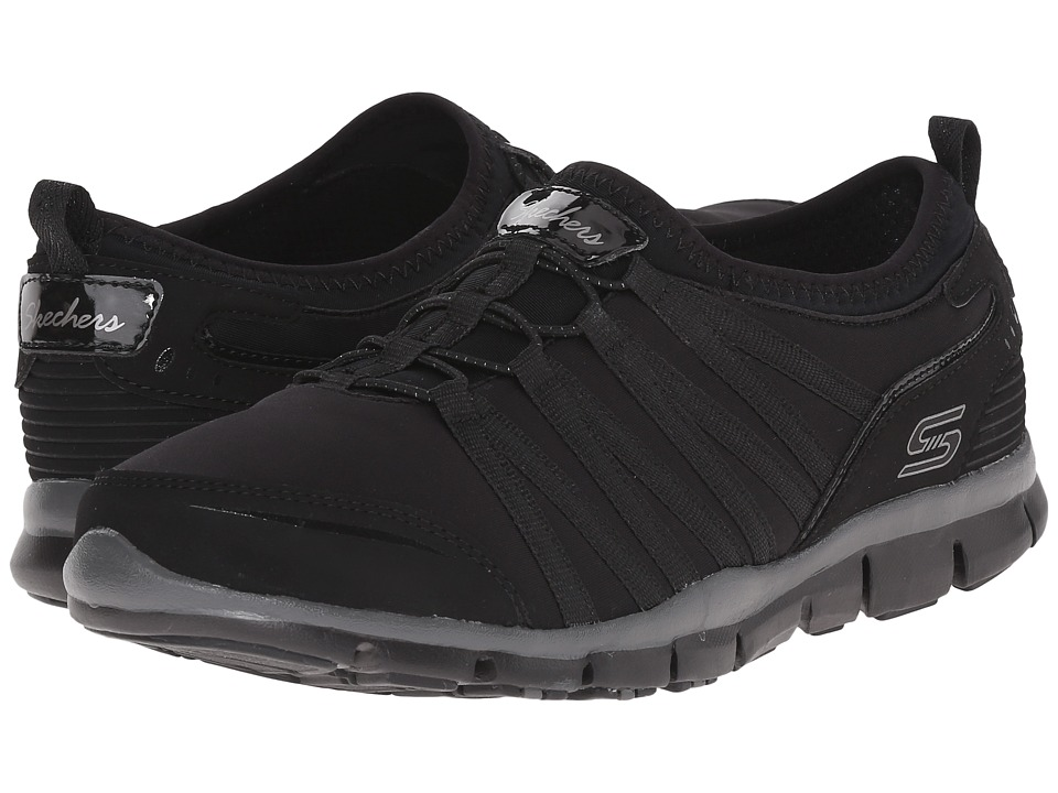 SKECHERS - Gratis - Shake-It-Off (Black) Women's Lace up casual Shoes