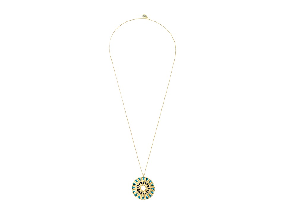House of Harlow 1960 - Heirloom Pendant Necklace (Turquoise) Necklace