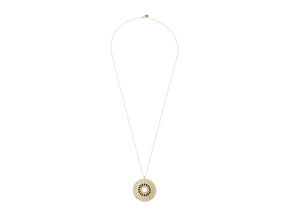 House of Harlow 1960 - Heirloom Pendant Necklace (White/Black) Necklace